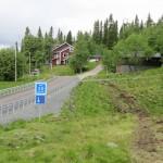 Slang nedgrävd upp till Lövåsgården